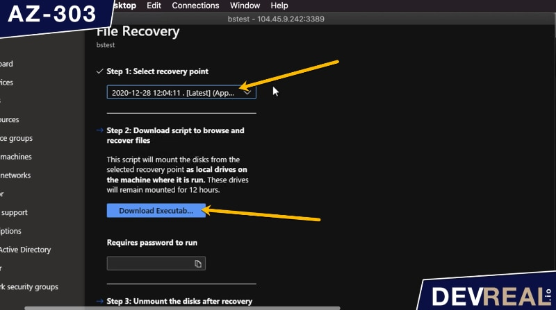 Download executable for file recovery