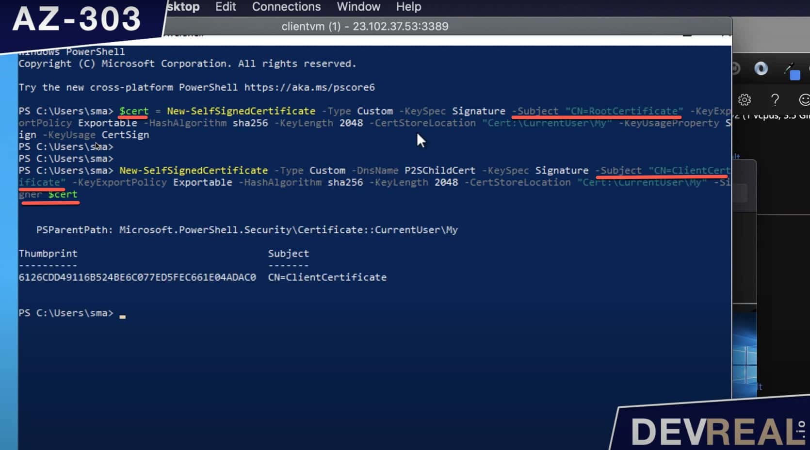 Creating self-signed certificates with PowerShell