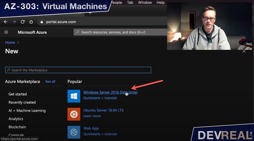 Creating Windows Server 2016 Datacenter VM