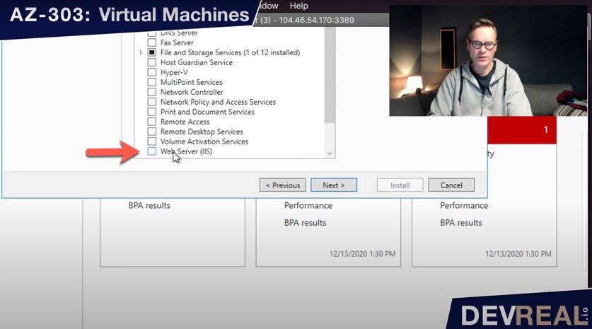 Select Web Server (IIS)