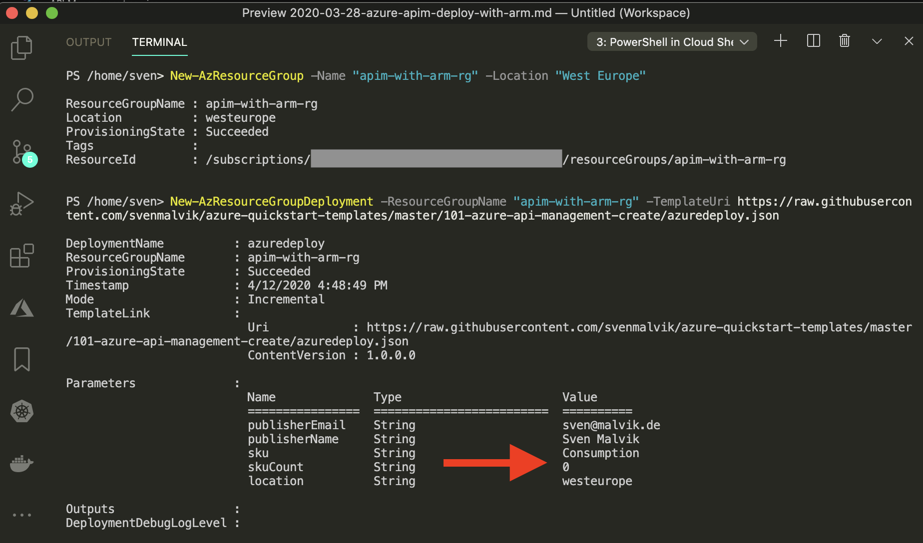 Deploy Azure API Management with remote ARM template
