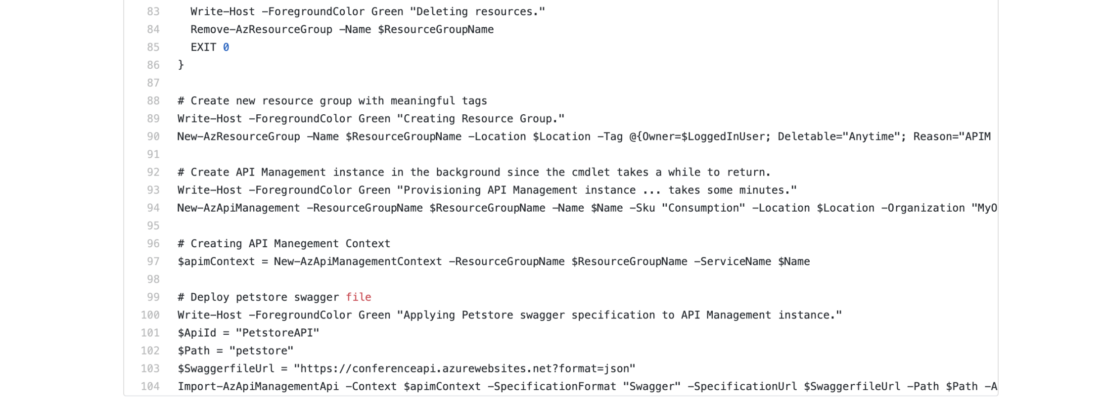 Deploying APIM with PowerShell