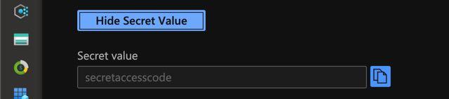 Show secret value in Azure Key Vault