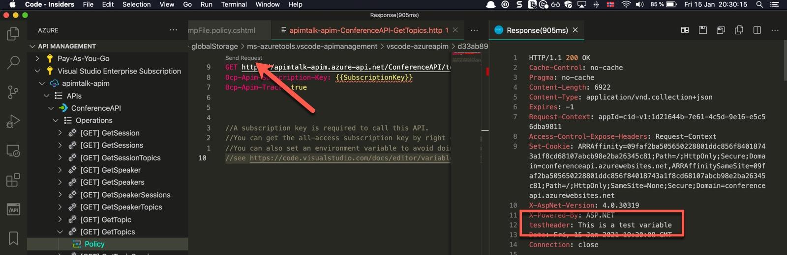 Testing API Operation Policy