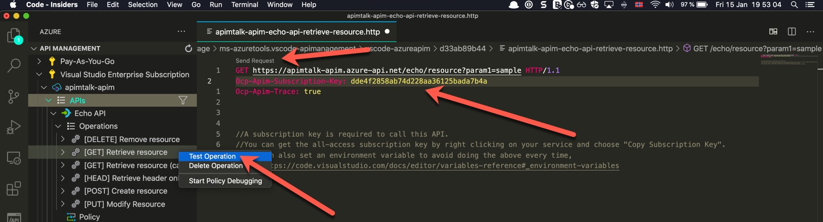 Testing API