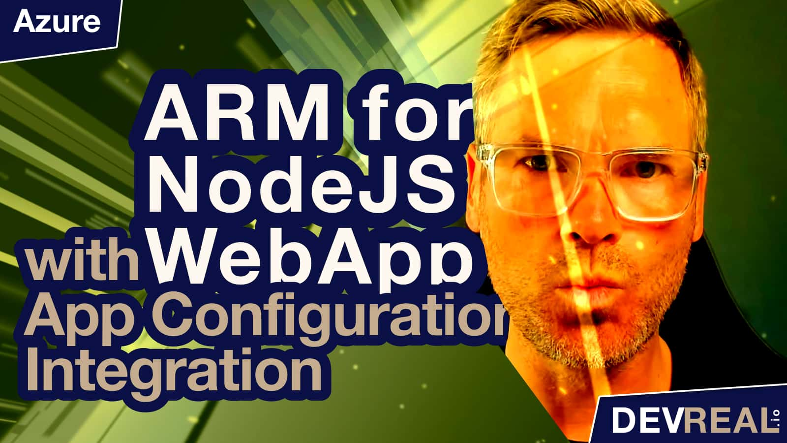 ARM for NodeJS Azure Web App with App Configuration Integration