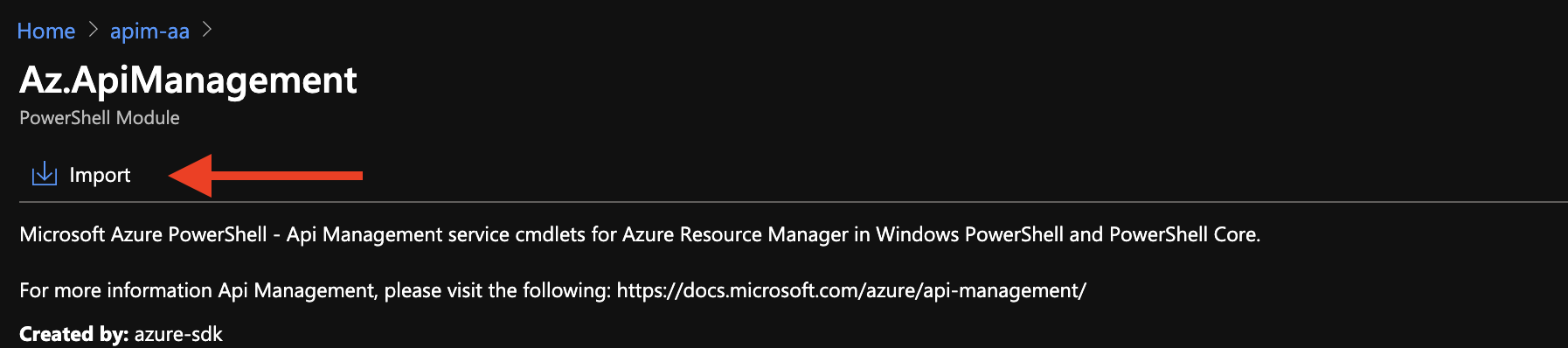 Importing Az.ApiManagement PowerShell Module