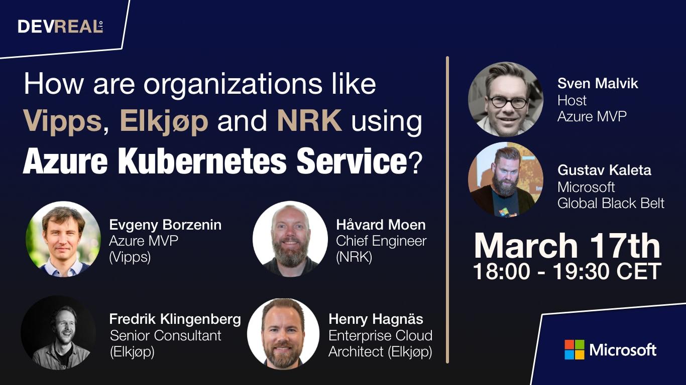 Azure Kubernetes Service (AKS) at Norway | DEVREAL.io